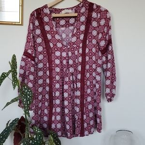 Altar'd State red Tunic Shirt